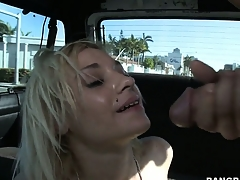 Cape gets treated to some hot action as she fucks with an increment of takes a facial