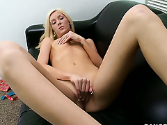 Emily Kae upon small breasts and smooth cunt is extremely horny in this cum beside oneself turn